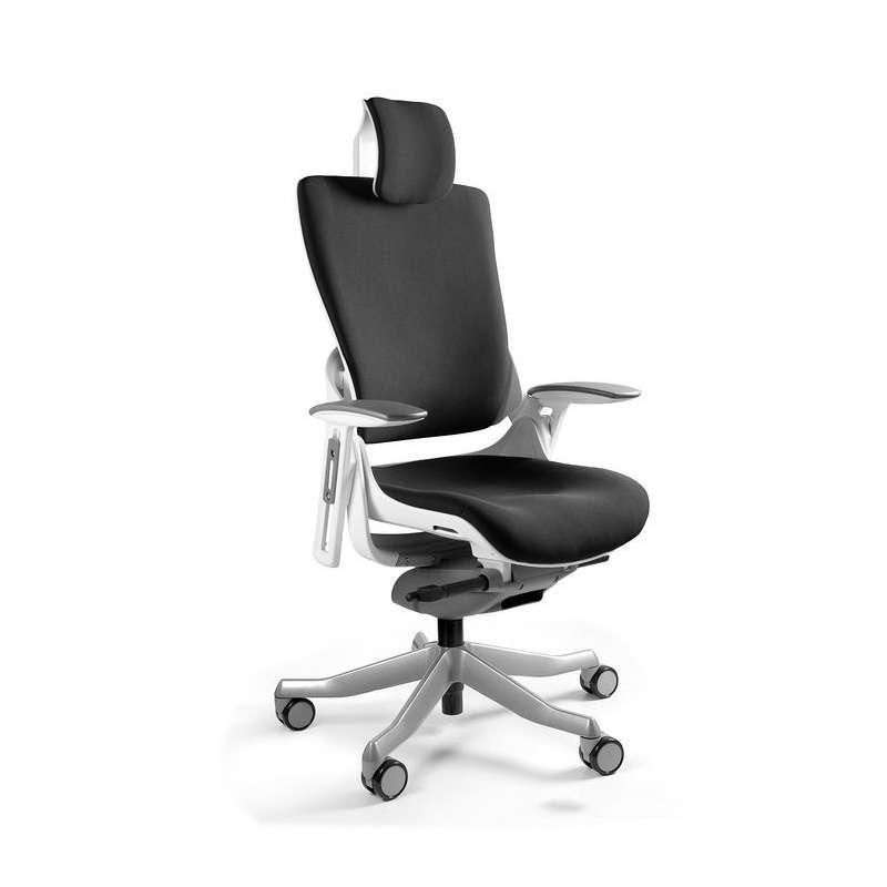 Fotel biurowy Wau 2 Biały - Tkanina