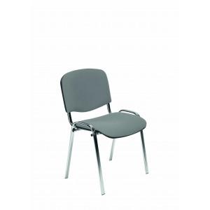 Krzesło ISO chrom szare
