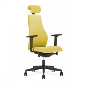 Krzesło biurowe Viden w kolorze żółtym