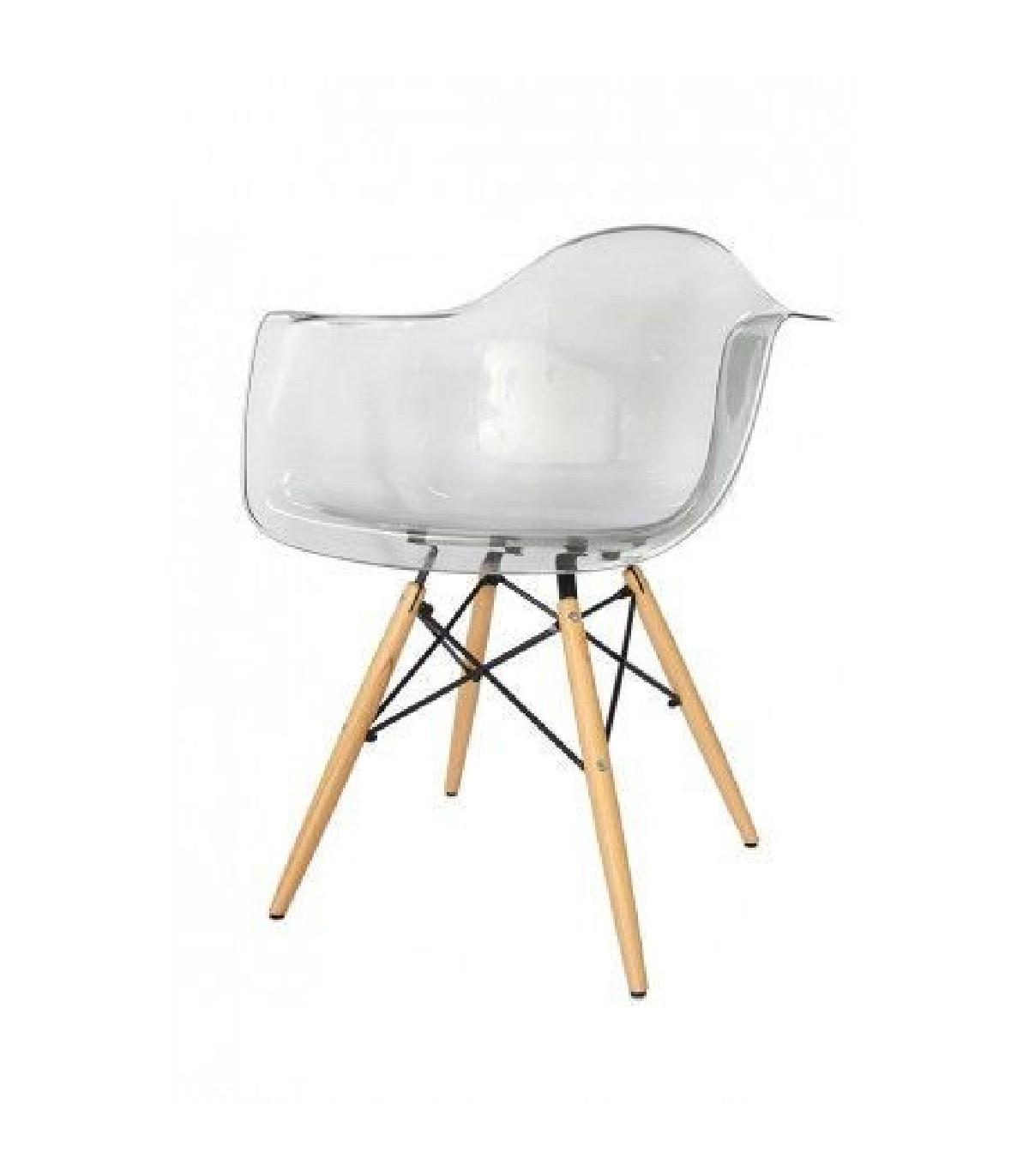 Krzesło Eiffel Wood transparentne