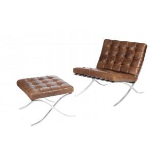 Fotel BA1 Vintage Premium z podnóżkiem
