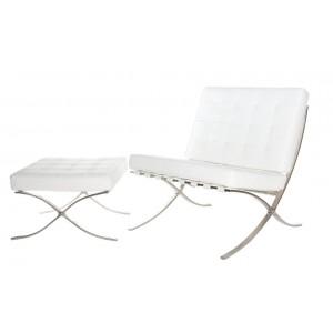 Fotel BA1 Skóra Premium z podnóżkiem