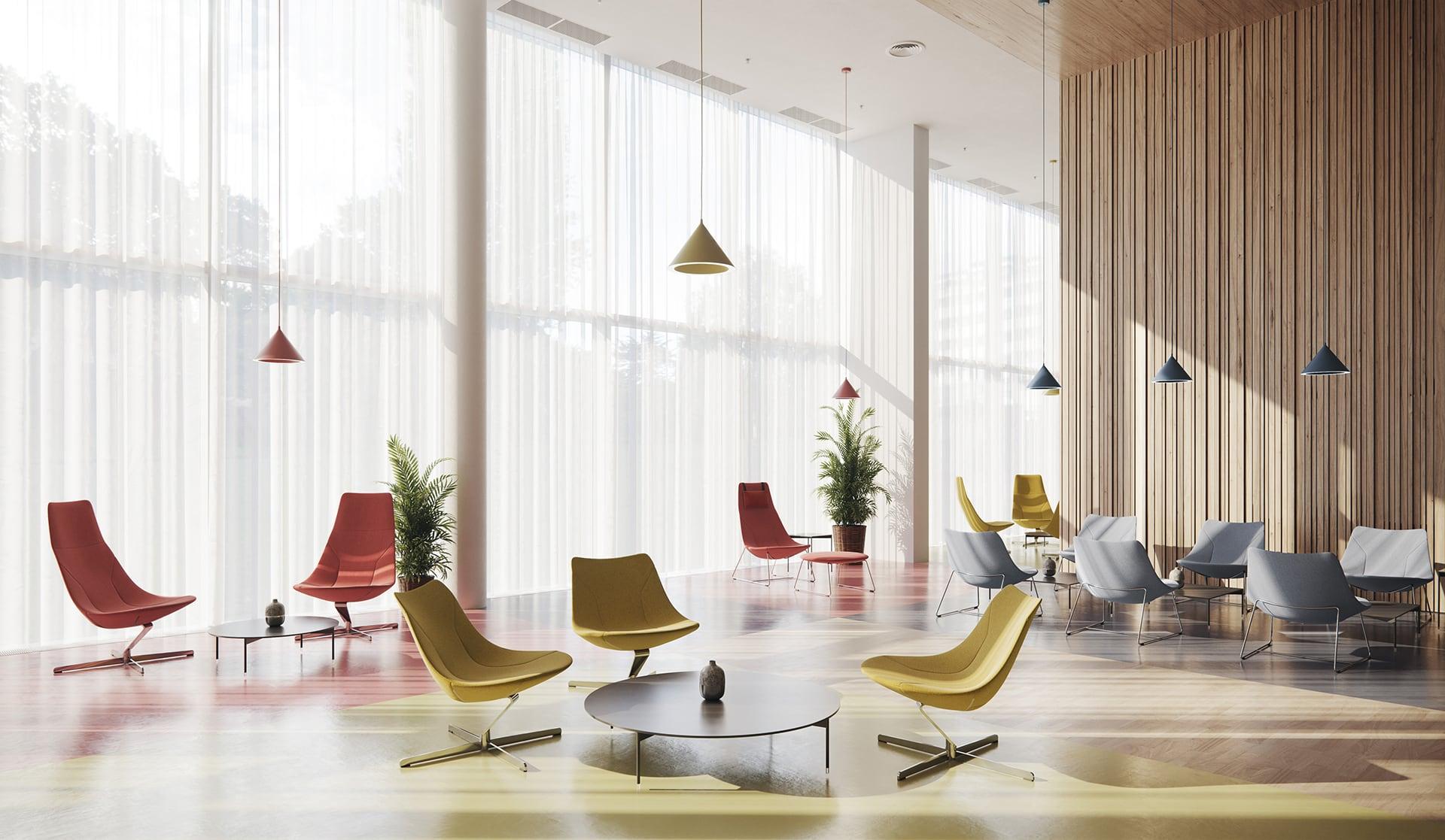 Fotele do hotelowego lobby
