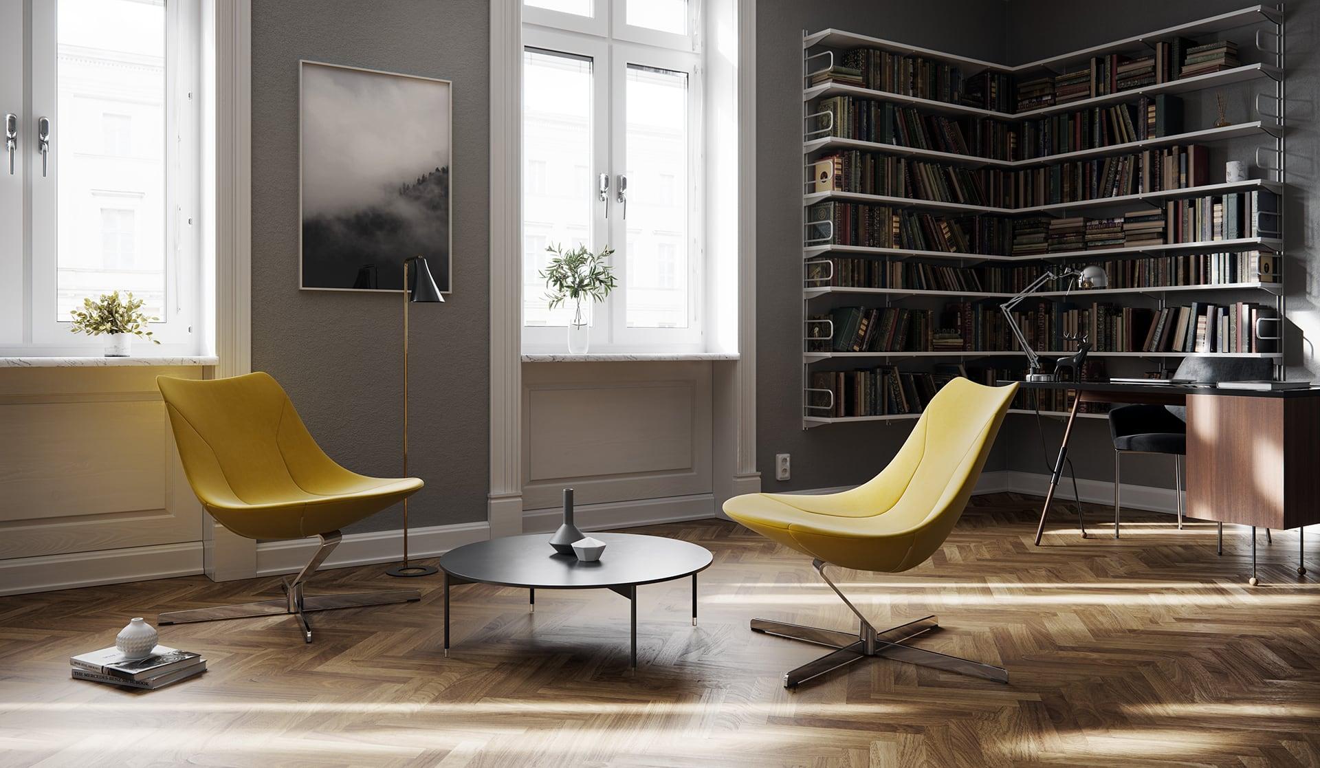 Nowoczesny fotel do czytelni i strefy relaksu