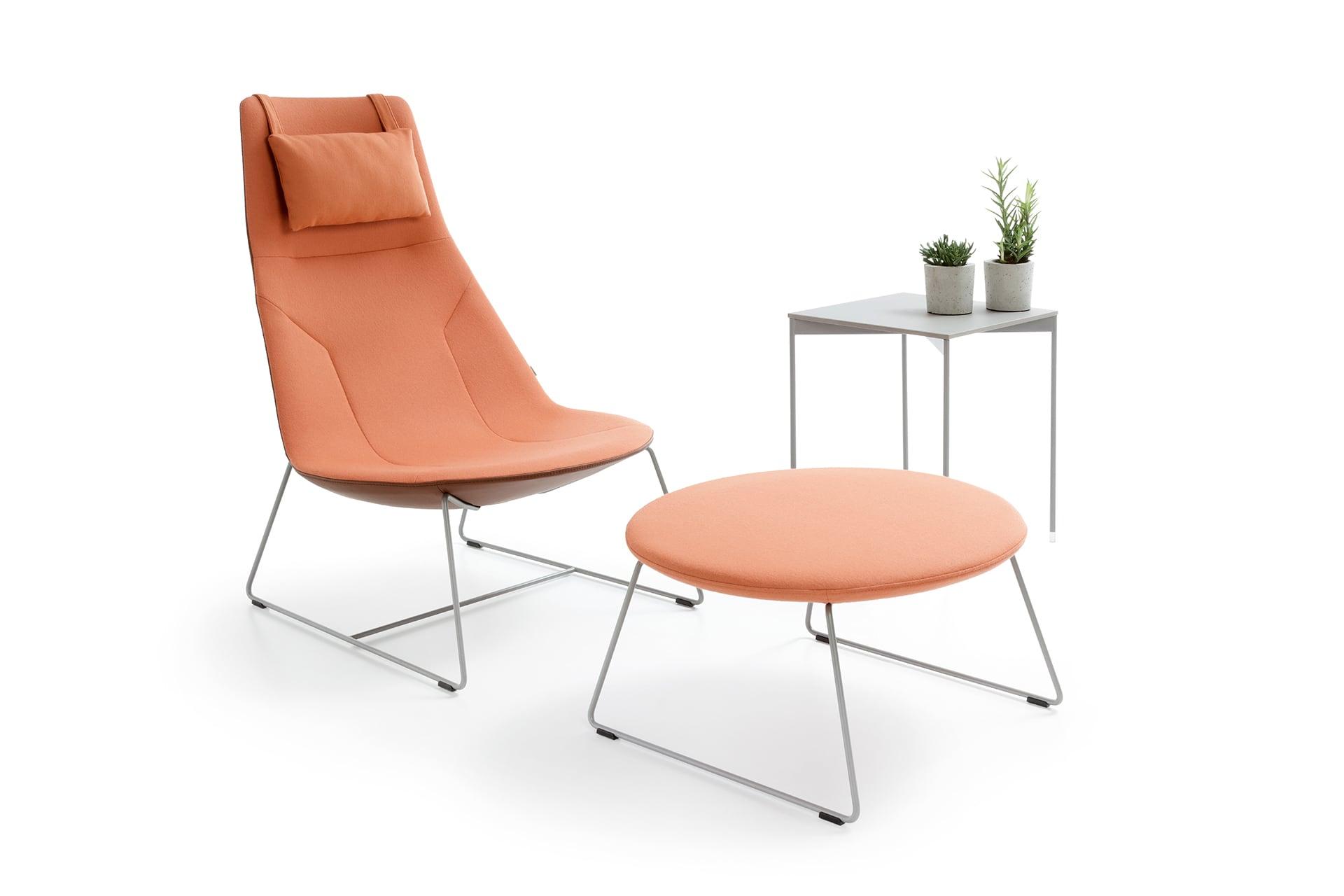 Fotel wypoczynkowy skórzany Chic Lounge