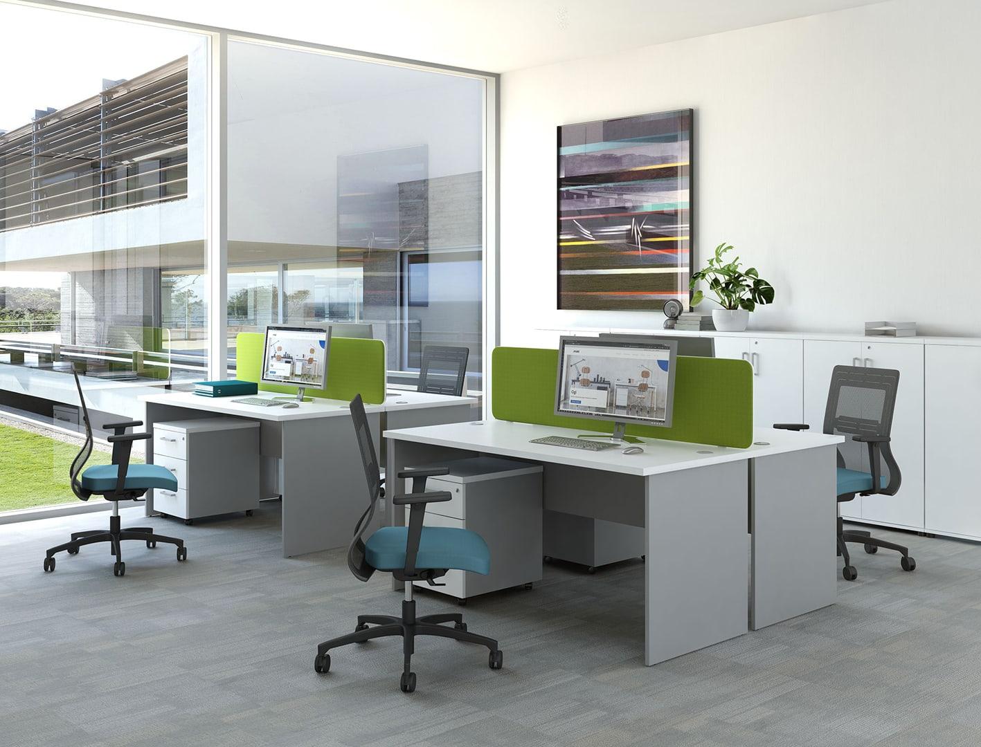 Meble biurowe białe Svenbox