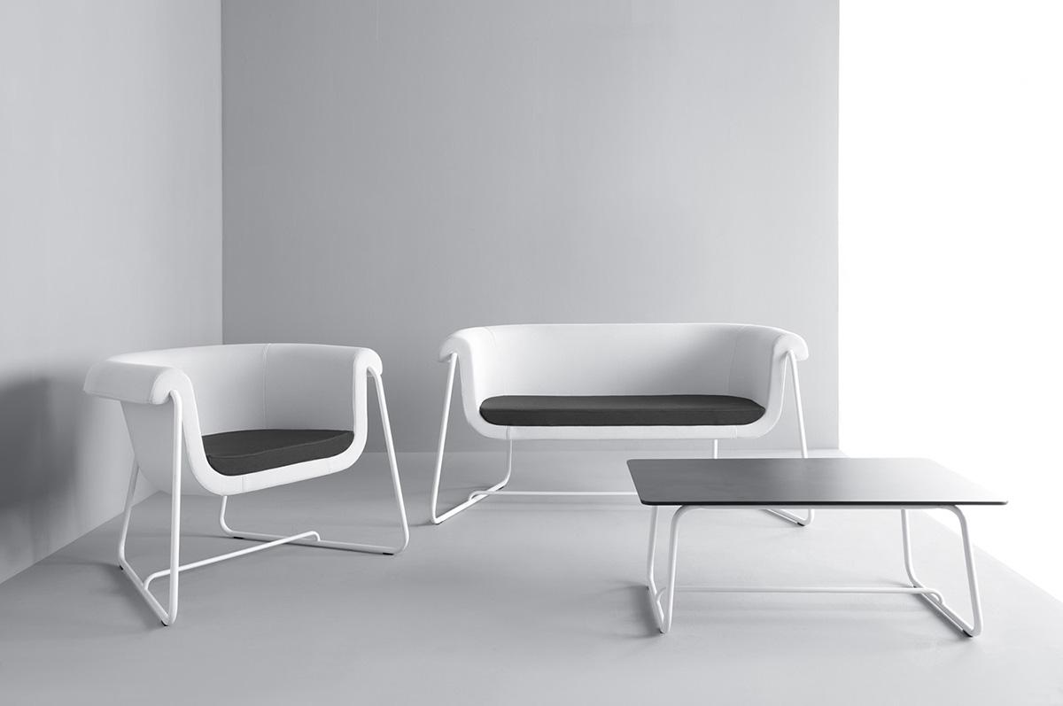 Białe siedziska biurowe