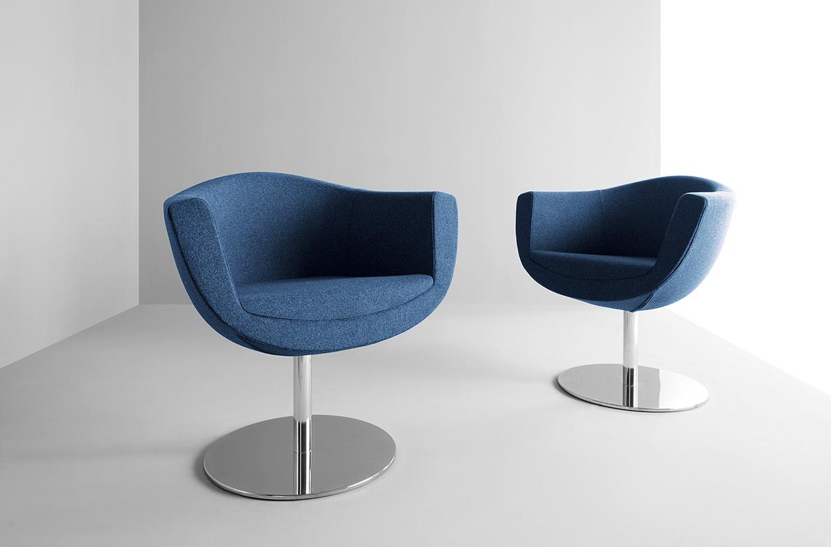 Fotel na okrągłej nodze