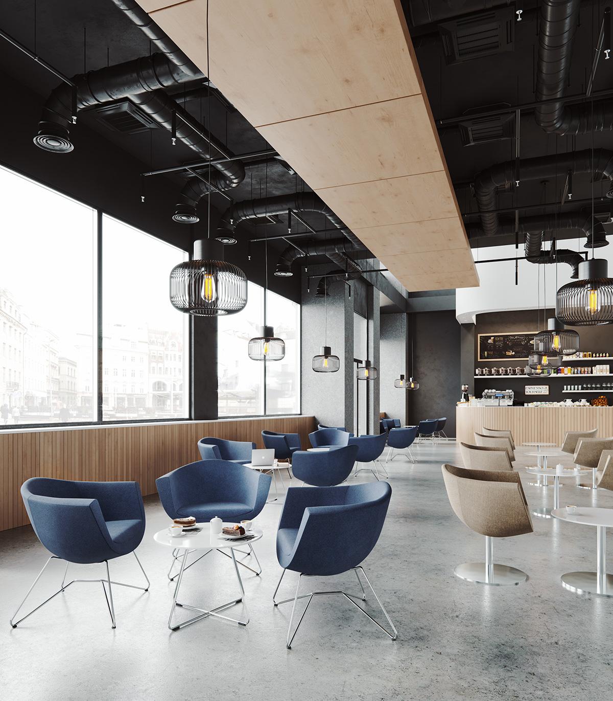 Wygodne fotele do kawiarni