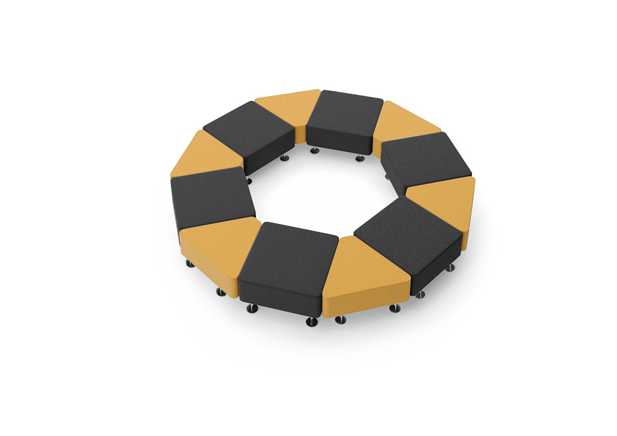 Okrągła kanapa recepcyjna